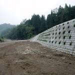 河川災害復旧工事早口川(左岸)