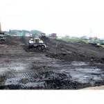 ほ場整備工事作業風景1